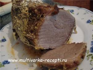 Буженина из говядины в мультиварке