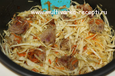 Рецепт тушеная капуста с мясом в мультиварке редмонд