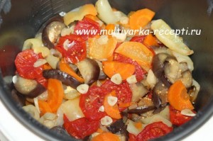 Соте из овощей в мультиварке