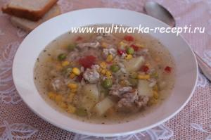 Суп из гавайской смеси в мультиварке