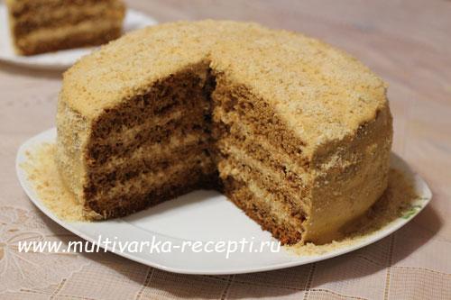 рецепт для мультиварки торт рыжик