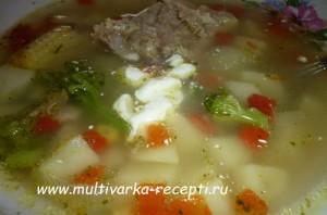 Суп из замороженных овощей в мультиварке