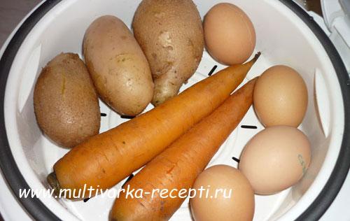 Сколько варить овощи на салат в пароварке