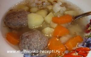 Гречневый суп с тефтелями в мультиварке