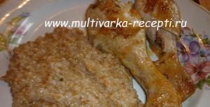 Пшеничная каша и курица в мультиварке
