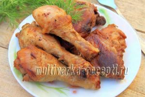 Курица в кисло-сладком соусе в мультиварке