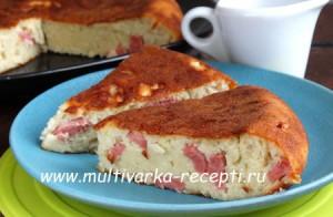 Пирог с сыром и сосиськами в мультиварке редмонт