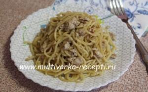 Спагетти с фаршем в мультиварке