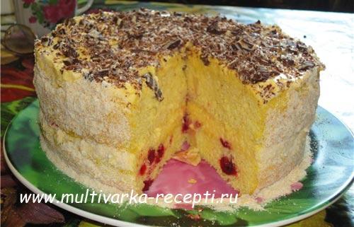 Птичье молоко торт в мультиварке рецепт