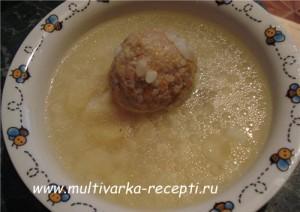 Детский суп с ракушками в мультиварке