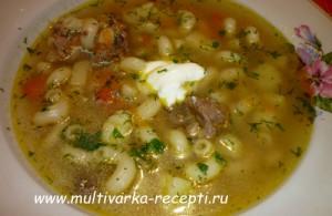 Суп с рожками в мультиварке