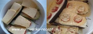 Баклажаны с сыром на пару в мультиварке