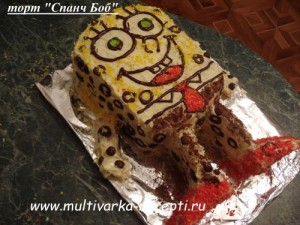 Торт «Спанч Боб»