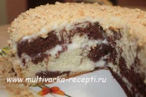 Ванильно-шоколадный торт в мультиварке