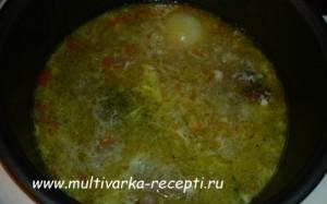 Суп с яйцом в мультиварке, «Паутинка»