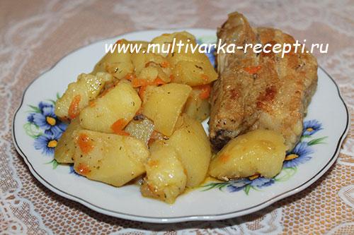 Картошка со свининой в сметане в мультиварке рецепт пошагово