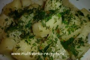 Картофель отварной в мультиварке