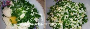 Жареные пирожки с творогом, яйцом и зеленым луком