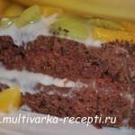 Постный шоколадный торт в мультиварке