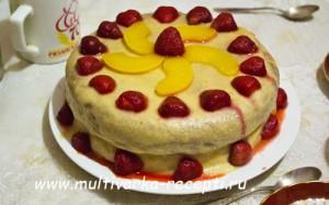 Постный торт в мультиварке