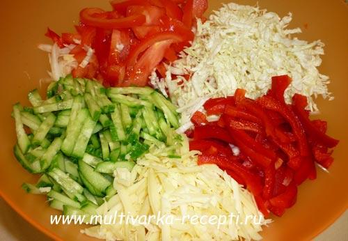 Рецепты салатов нашинкованных соломкой