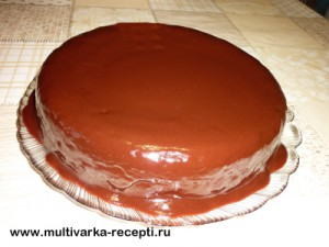 Шоколадный торт на майонезе в мультиварке