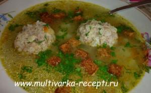 Суп с тефтелями в мультиварке