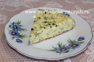 Запеканка из кабачков с сыром в мультиварке