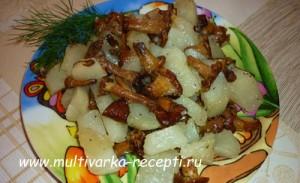 рыжики с картошкой в мультиварке рецепты с фото