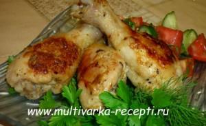 Курица, запеченная в кефирном маринаде в мультиварке