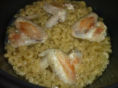 Куриные крылышки с макаронами в мультиварке рецепты