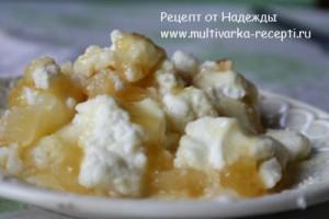 Яблоки запеченные с творогом и медом в мультиварке