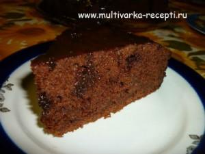 Шоколадный кекс с тыквой в мультиварке