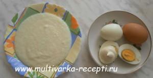 Манная каша в мультиварке + вареные яйца