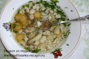 Детский суп из чечевицы в мультиварке