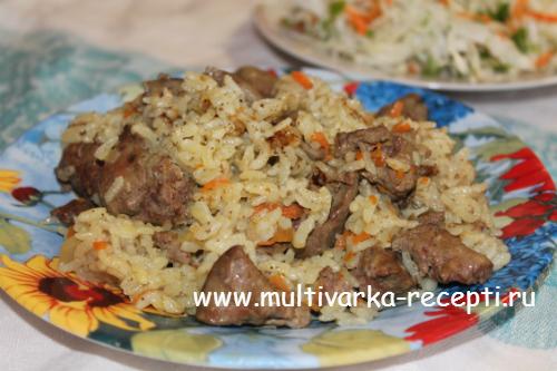 Печенка с рисом рецепт с фото