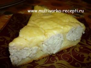Пирог с фрикадельками в мультиварке