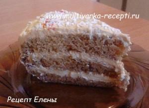 Торт «Всегда удачный» в мультиварке Redmond