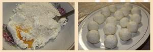 Пирог с творожными шариками в мультиварке