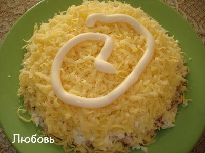 салат сказка рецепт с курицей и сыром