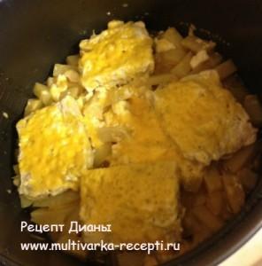 Филе трески с картофелем в мультиварке