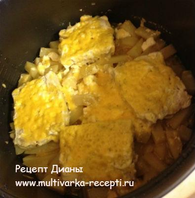 Треска в мультиварке с картошкой рецепты в