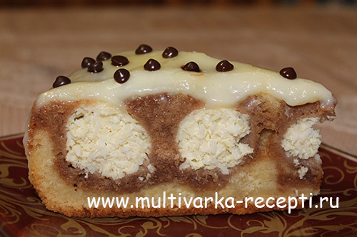 Пирог с творожными шариками рецепт с в мультиварке