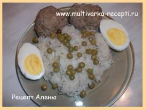 Котлеты с рисом в мультиварке Редмонд