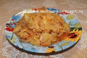 Капуста тушеная с картофелем в мультиварке