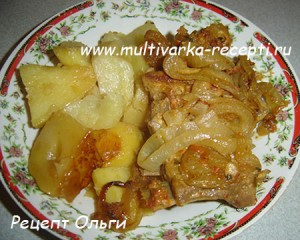 Рецепт-дуэт: ребрышки с картофелем в мультиварке