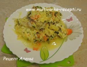 Филе пангасиуса с сыром и зеленью в мультиварке