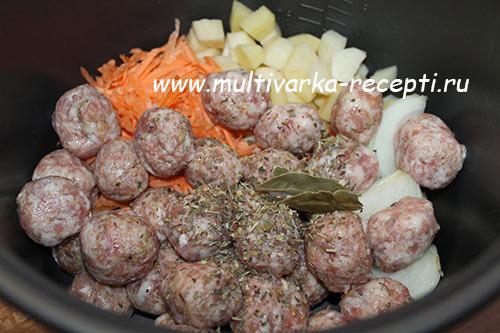 Суп с пшеном и куриными фрикадельками в мультиварке - рецепт пошаговый с фото