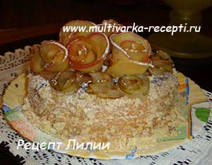 """Торт """"Нежность"""" в мультиварке"""