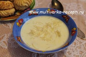Суп молочный с вермишелью в мультиварке